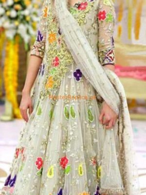 KASHEES LUXURY EMBROIDERED NET FROCK COLLECTION 2018 MASTER REPLICA