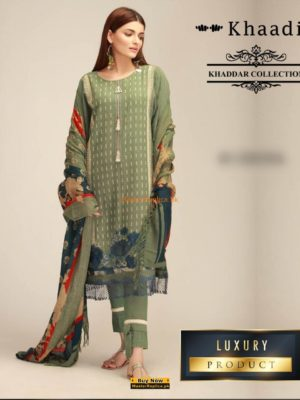 KHAADI LUXURY PRINTED KHADDAR WINTER COLLECTION 2018 REPLICA