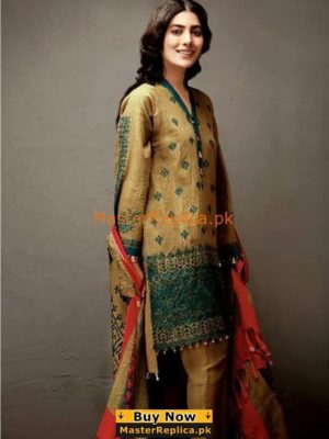 KHAADI EMBROIDERED KHADDAR WINTER COLLECTION 2018 MASTER REPLICA