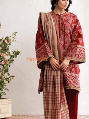 KHAADI Luxury Winter Embroidered Linen Collection Replica 2018