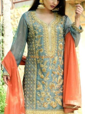 MALIHA KANWAL Luxury Embroidered Bridal Maysuri Collection Replica