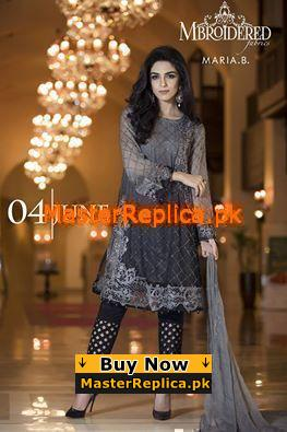 Maria B Luxury Embroidered Royal Chiffon Collection Replica