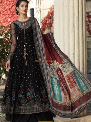 MARIA B Luxury CS-108-Black Embroidered Net Collection Replica