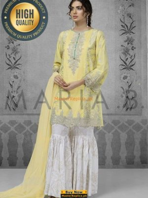 MARIA B LUXURY EMBROIDERED CHIFFON DW-2122 COLLECTION REPLICA