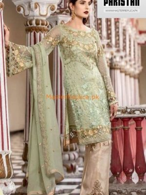 MARYAM'S Luxury Pastoral Poise Embroidered Chiffon Collection Replica