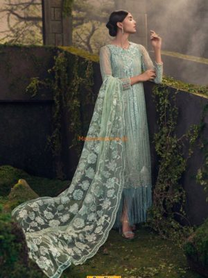 QALAMKAR LUXURY EMBROIDERED NET BRIDAL COLLECTION 2018 MASTER REPLICA