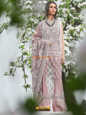 Sana Safinaz Luxury 18-01A Embroidered Net Collection Replica