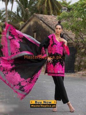 SANA SAFINAZ Luxury Rose Garden Embroidered Cotton Collection Replica