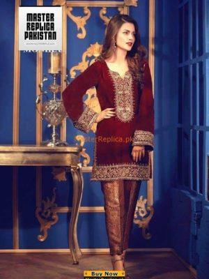 SANNIYA MASKATIYA Luxury Embroidered Winter Velvet Collection Replica