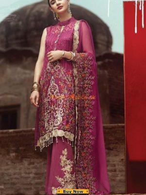 SERENE Luxury Embroidered Magenta Chiffon Collection RepliSERENE Luxury Embroidered Magenta Chiffon Collection Replica ca