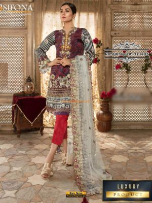 Sifona Luxury Embroidered Winter Khaddar Collection Replica