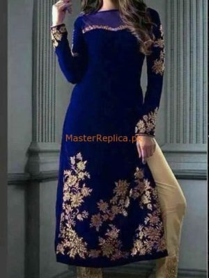 ZAINAB CHOTTANI LUXURY EMBROIDERED VELVET WINTER COLLECTION 2018 REPLICA