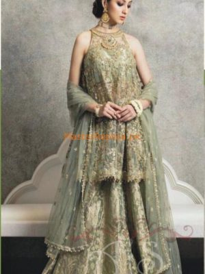 ZARA SHAH JAHAN Luxury Embroidered Bridal Chiffon Collection Replica