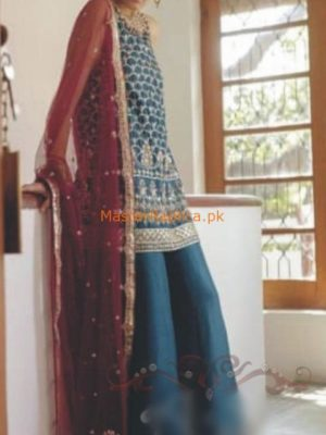 ZARA SHAH JAHAN Luxury Embroidered Chiffon Wedding Collection Replica