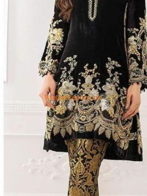 ZUNUJ Luxury Embroidered Latest Winter Velvet Collection Replica
