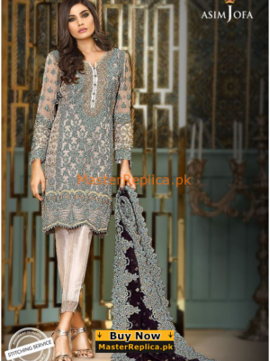 ASIM JOFA Luxury Embroidered AJC-2B-O18 Chiffon Collection Replica