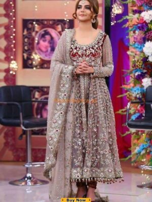 KASHEES LUXURY EMBROIDERED BRIDAL NET COLLECTION 2018 REPLICA