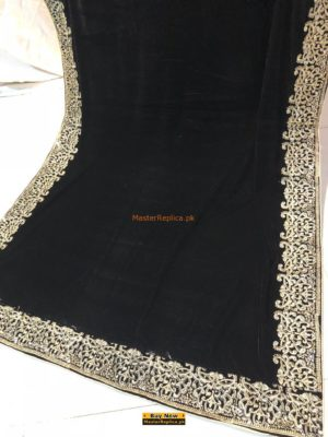 LUXURY EMBROIDERED WINTER VELVET SHAWL COLLECTION 2018