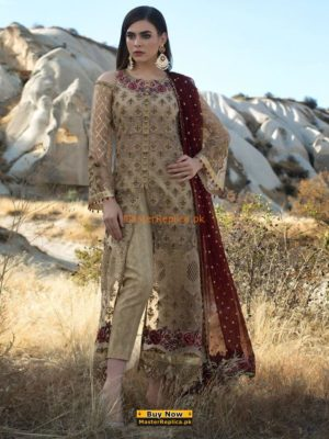 Zainab Chottani Luxury Lavendar Opal Embroidered Maysuri Collection Replica