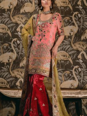 TEENA DURRANI LUXURY PERSIAN ROSE (H) Embroidered Bridal Collection Replica