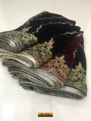 EMBROIDERED WINTER VELVET SHAWL COLLECTION 2019