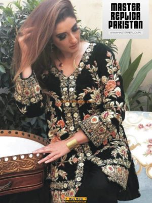 AGHA NOOR LUXURY EMBROIDERED VELVET WINTER COLLECTION 2019 MASTER REPLICA