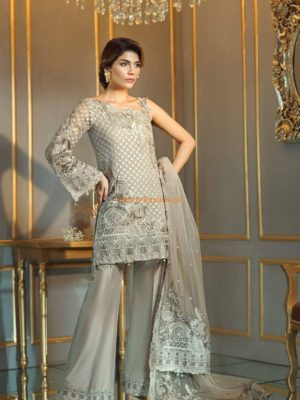 AAYRA LUXURY EMBROIDERED CHIFFON COLLECTION 2018 MASTER REPLICA