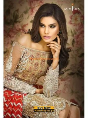 ASIM JOFA LUXURY EMBROIDERED CHIFFON COLLECTION 2018 REPLICA