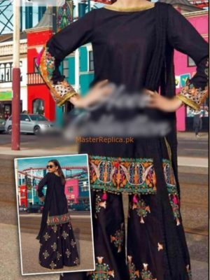 BAREEZE COTTON LUXURY EMBROIDERED WINTER COLLECTION 2018 REPLICA