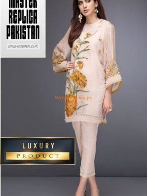 BAROQUE LUXURY EMBROIDERED CHIFFON KURTI COLLECTION 2019 REPLICA