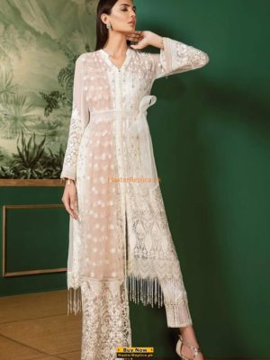 BAROQUE LUXURY EMRBOIDERED CHIFFON COLLECTION 2018 REPLICA