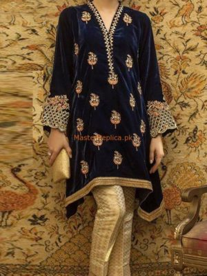 DESIGNER MASTER LUXURY EMBROIDERED VELVET COLLECTION 2018 REPLICA