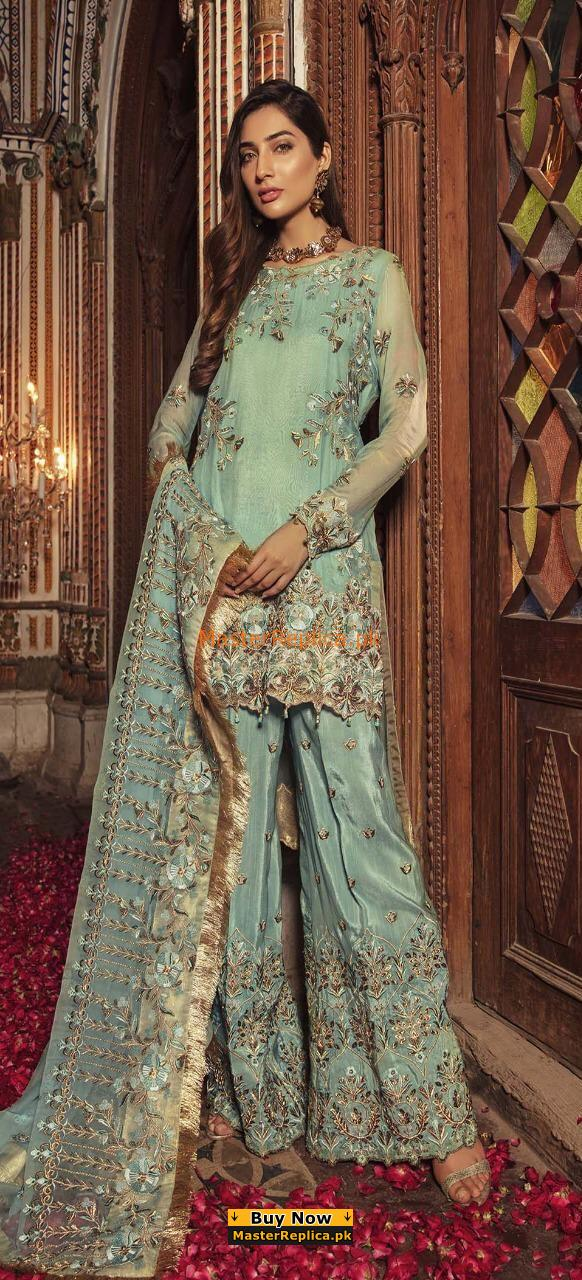 EMB ROYAL LUXURY EMBROIDERED CHIFFON COLLECTION 2018 REPLICA
