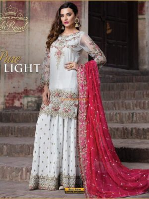 EMB ROYAL Luxury Pure Light Embroidered Chiffon Collection Replica