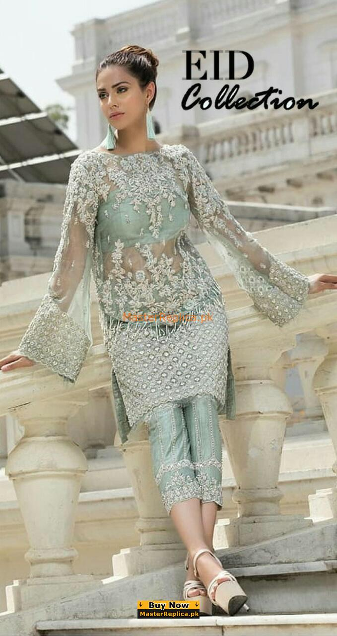 ERUM KHAN LUXURY EMBRODIERED NET BRIDAL COLLECTION 2019 MASTER REPLICA