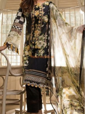 FIRDOUS LUXURY EMRBOIDERED COTTON COLLECTION 2018 REPLICA
