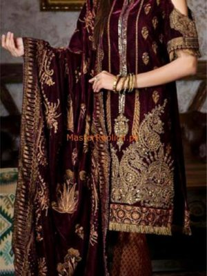 GUL AHMED LUXURY EMBROIDERED VELVET COLLECTION 2018 REPLICA