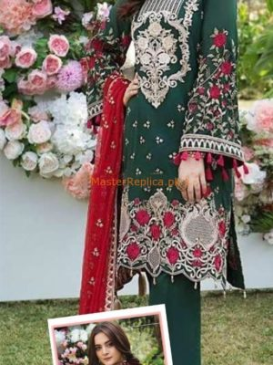 IMROZIA LATEST THE TROPICAL BEAN EMBROIDERED CHIFFON COLLECTION REPLICA