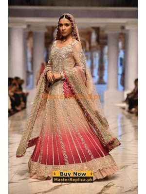 INDIAN LUXURY EMBROIDERED NET BRIDAL MAXI COLLECTION 2018 MASTER REPLICA