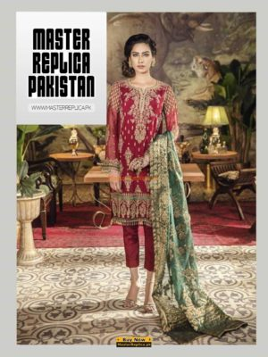 IZNIK LUXURY EMBROIDERED CHIFFON COLLECTION 2018 MASTER REPLICA
