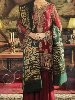 IZNIK LUXURY EMBROIDERED JADE ILLUSION CHIFFON COLLECTION 2018 MASTER REPLICA