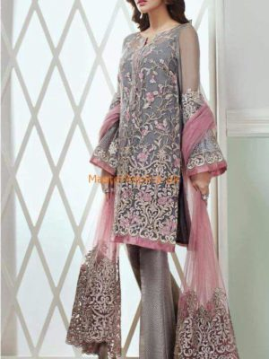 Jazmin Luxury Bevy of Flowers Embroidered Lawn Collection Replica