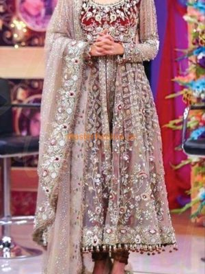 KASHEES LUXURY EMBROIDERED NET BRIDAL COLLECTION 2018 REPLICA