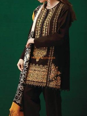 KHAADI LUXURY EMBROIDERED KHADDAR WINTER COLLECTION 2018 MASTER REPLICA