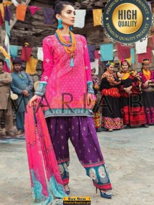 MARIA B LUXURY EMBROIDERED LINEN COLLECTION 2018 REPLICA