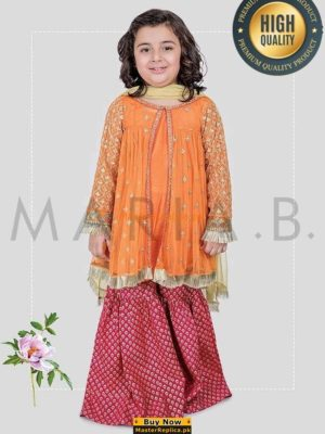 MARIA B LUXURY EMBROIDERED CHIFFON KIDS COLLECTION 2018 REPLICA