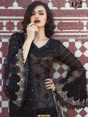 MARIA B LUXURY EMBROIDERED CHIFFON COLLECTION 2019 REPLICA