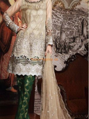 MARIA B LUXURY EMBROIDERED NET BRIDAL COLLECTION 2018 REPLICA
