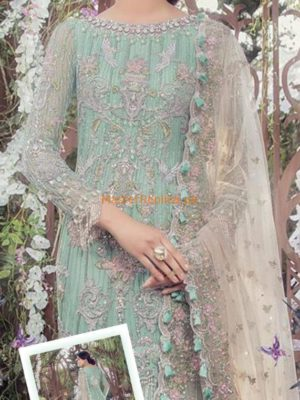 MARIA B LUXURY EMBROIDERED WINTER BRIDAL LEHNGA COLLECTION 2018 REPLICA