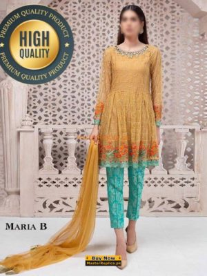 MARIA B LUXURY EMBROIDERED COTTON COLLECTION 2018 MASMARIA B LUXURY EMBROIDERED COTTON COLLECTION 2018 MASTER REPLICA TER REPLICA